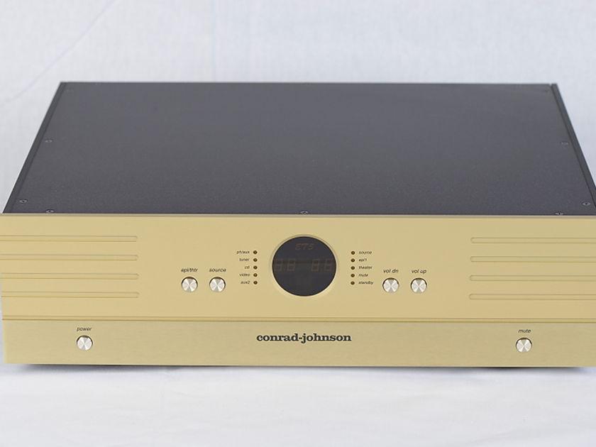 Conrad Johnson ET5 Enhanced Triode Preamplifier w/ matching Metal Remote - CJ Champagne Gold Finish