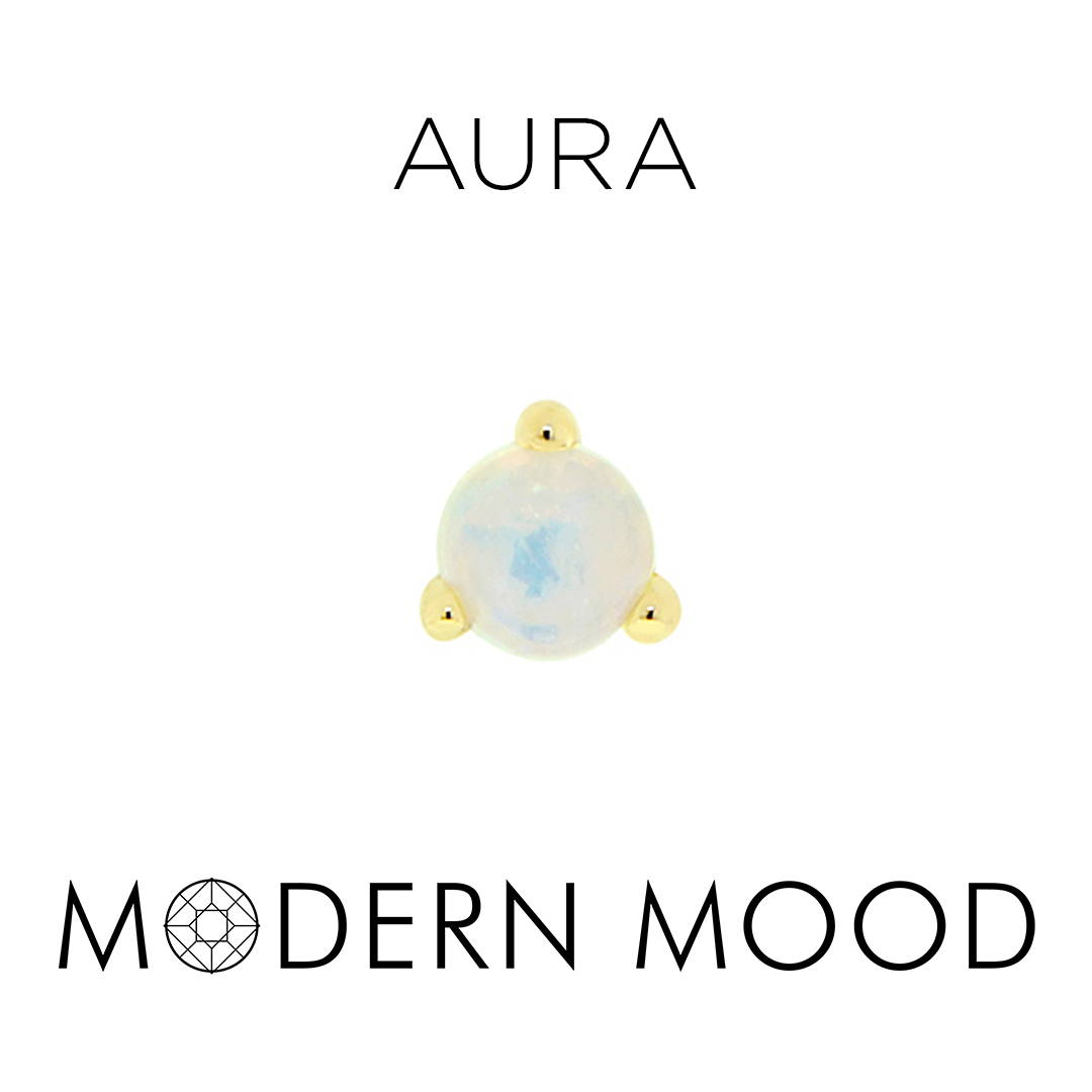 opal moonstone aura piercing jewelry