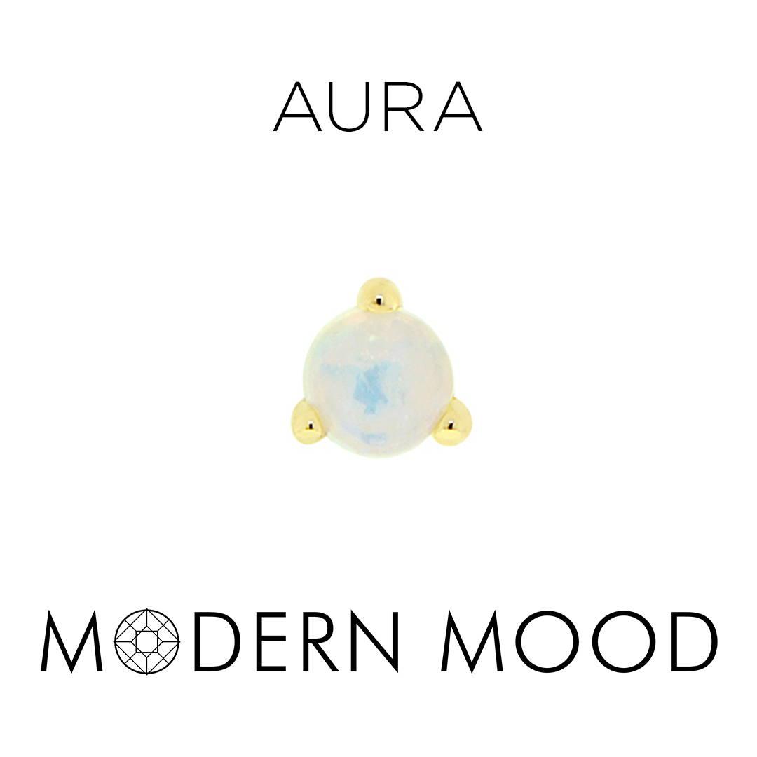 opal moonstone aura piercing jewelry