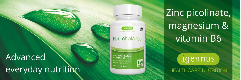 Neurobalance - Zinc, magnesium & vitamin B6 for adults & children, 120  tablets