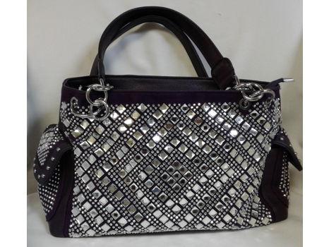 Purple Bling Fashion Handbag