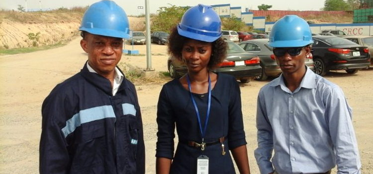 Inspection visit to FAAN Project site in Nnamdi Azikiwe International Airport, Abuja