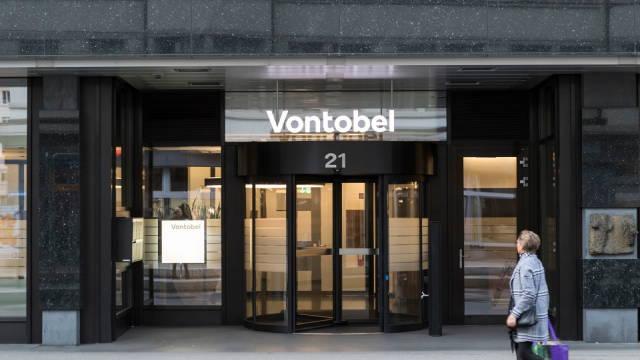 Et pressebillede fra Vontobel, som viser indgangen til banken
