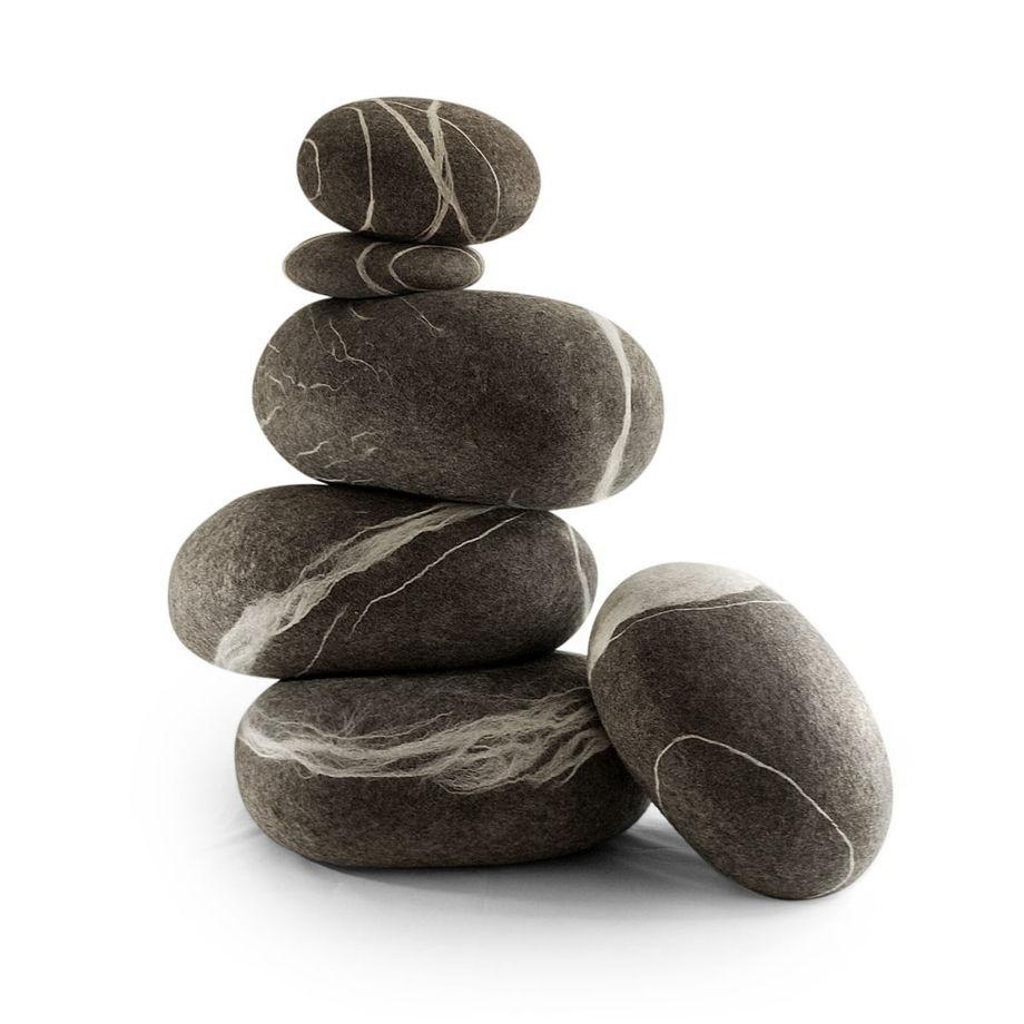 """ПУФ и ПОДУШКИ-КАМНИ. Набор камней. Модель """"Морская галька"""""""