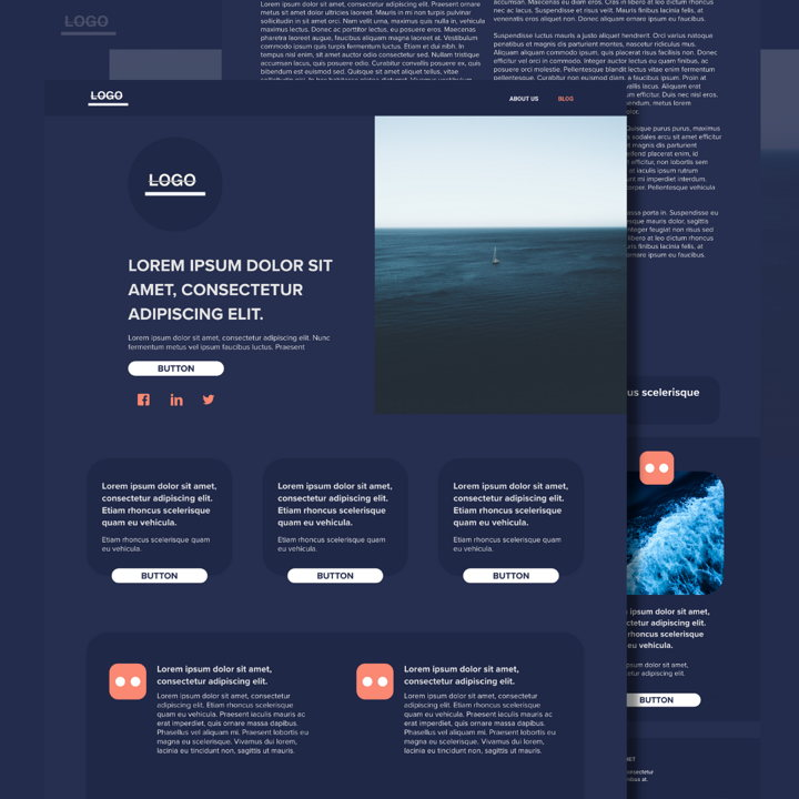 Sea Blue template's featured image
