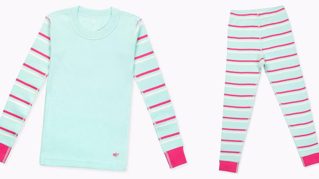 JoJo Kids Organic Cotton Pajamas - Pink Stripe