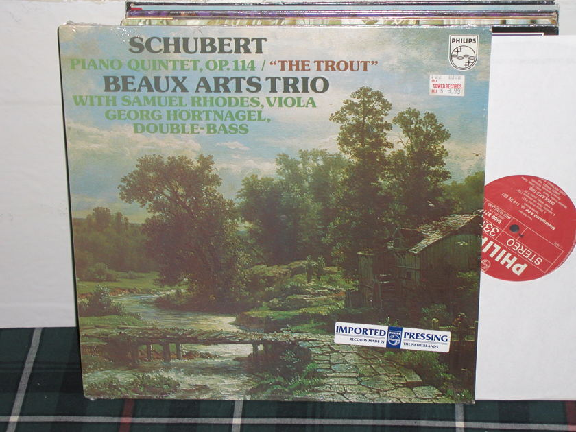Beaux Arts Trio  - Schubert  Trout Philips Import Pressing 9500