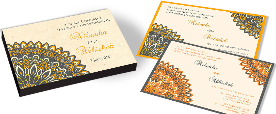 Floral pattern Wedding Invitation