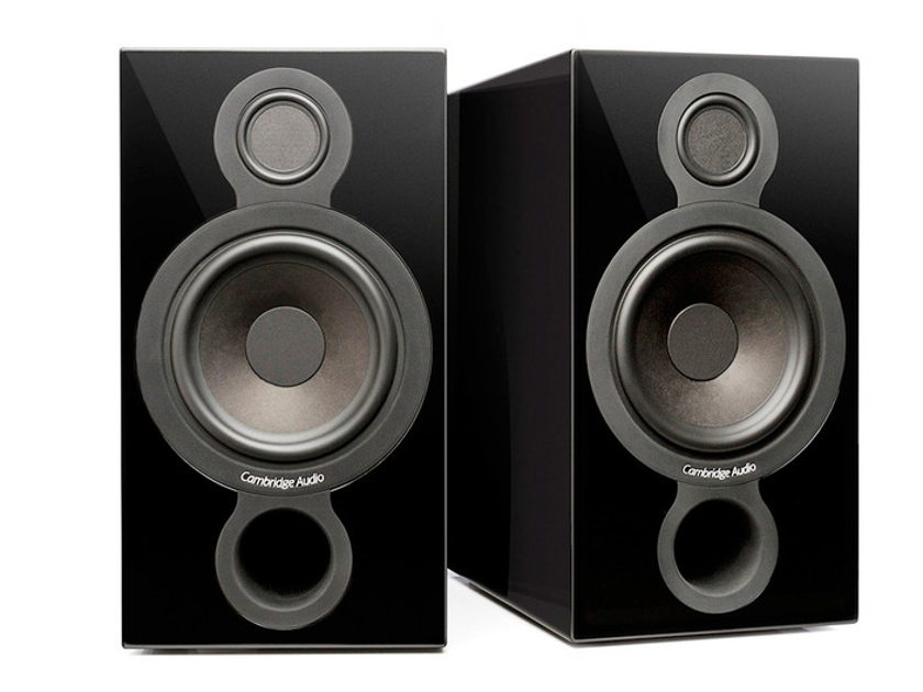 CAMBRIDGE AUDIO Aeromax 2 Flagship Standmount Speakers: Mint Condition Demo Unit; Full Warranty; Gloss Black; 40% Off