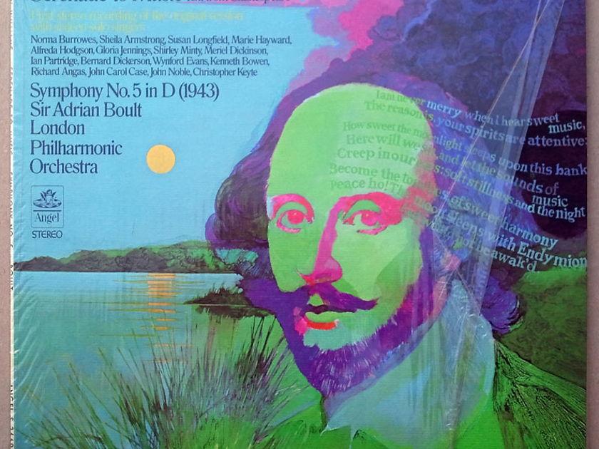 ANGEL   BOULT/VAUGHAN WILLIAMS - Symphony No.5, Serenade to Music / NM
