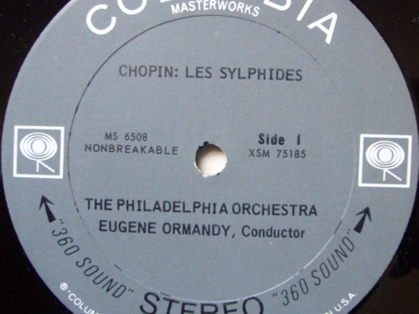 Columbia 2-EYE / EUGENE ORMANDY, - Chopin Les Sylphides, Delibes Sylvia/Coppelia, MINT!