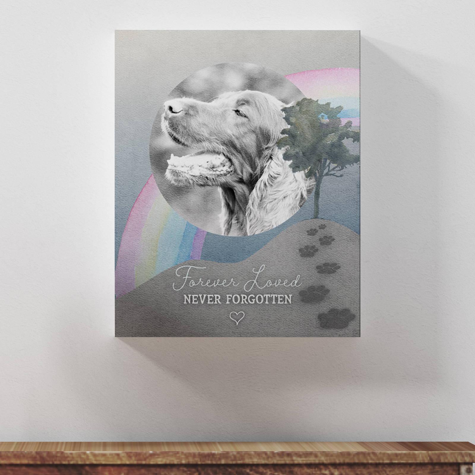 """""""Forever Loved, Never Forgotten"""", Dog Memorial"""