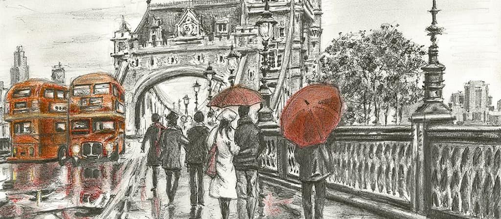 Original London Drawings For Sale
