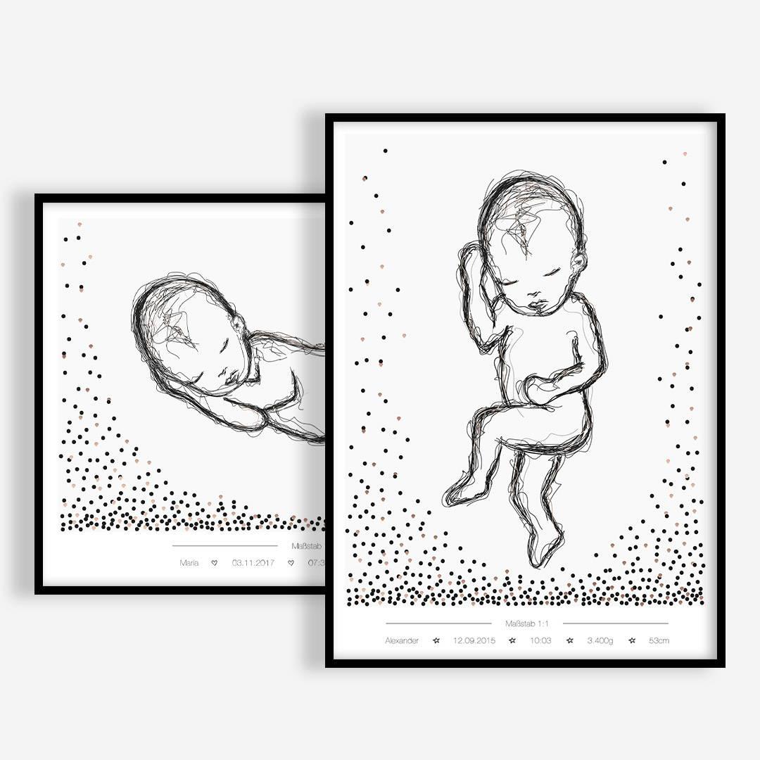 Geburtsposter Produktübersicht