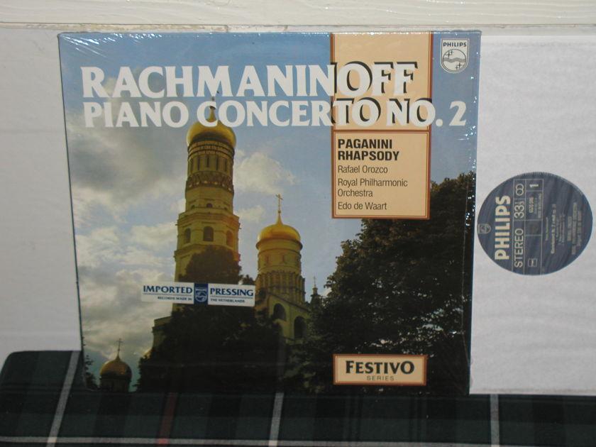 Orozco/De Waart/RPO - Rachmaninoff Cto 2 Paganini Rhapsody Philips Import Pressing 6570