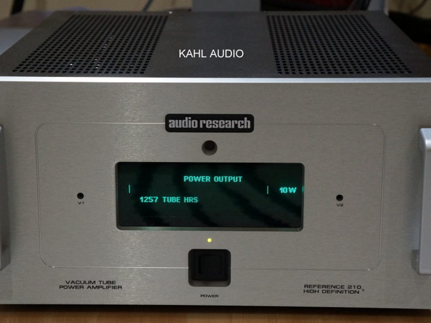 Audio Research Reference 210 tube monoblocks. Stereophile recommended. $22,000 MSRP