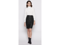 Joie Navi Leather Pencil Skirt
