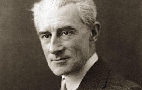 Retrato en blanco y negro de Ravel
