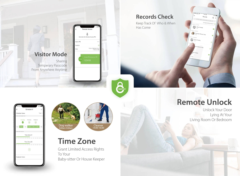 fingerprint door lock 's smartkey app