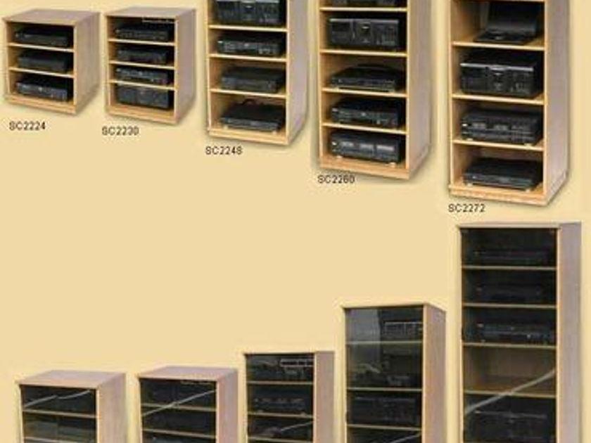deciBel Designs SC2260 Black Home theater stereo audio cabinet