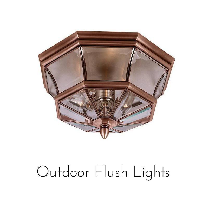 outdoor flush lights