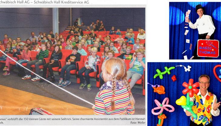 anfrage bild kinder zauberer ballonkünstler magic thomas