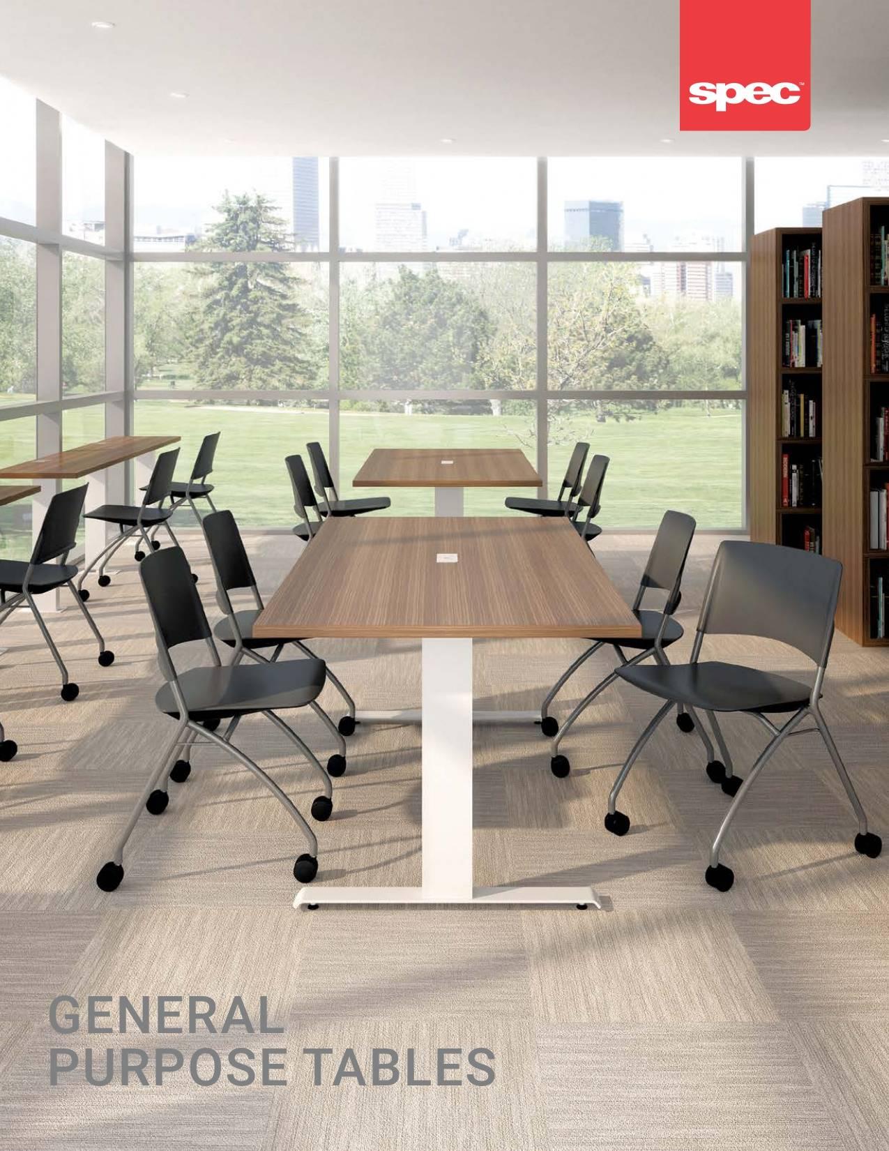 Spec Furniture General Purpose Tables Brochure