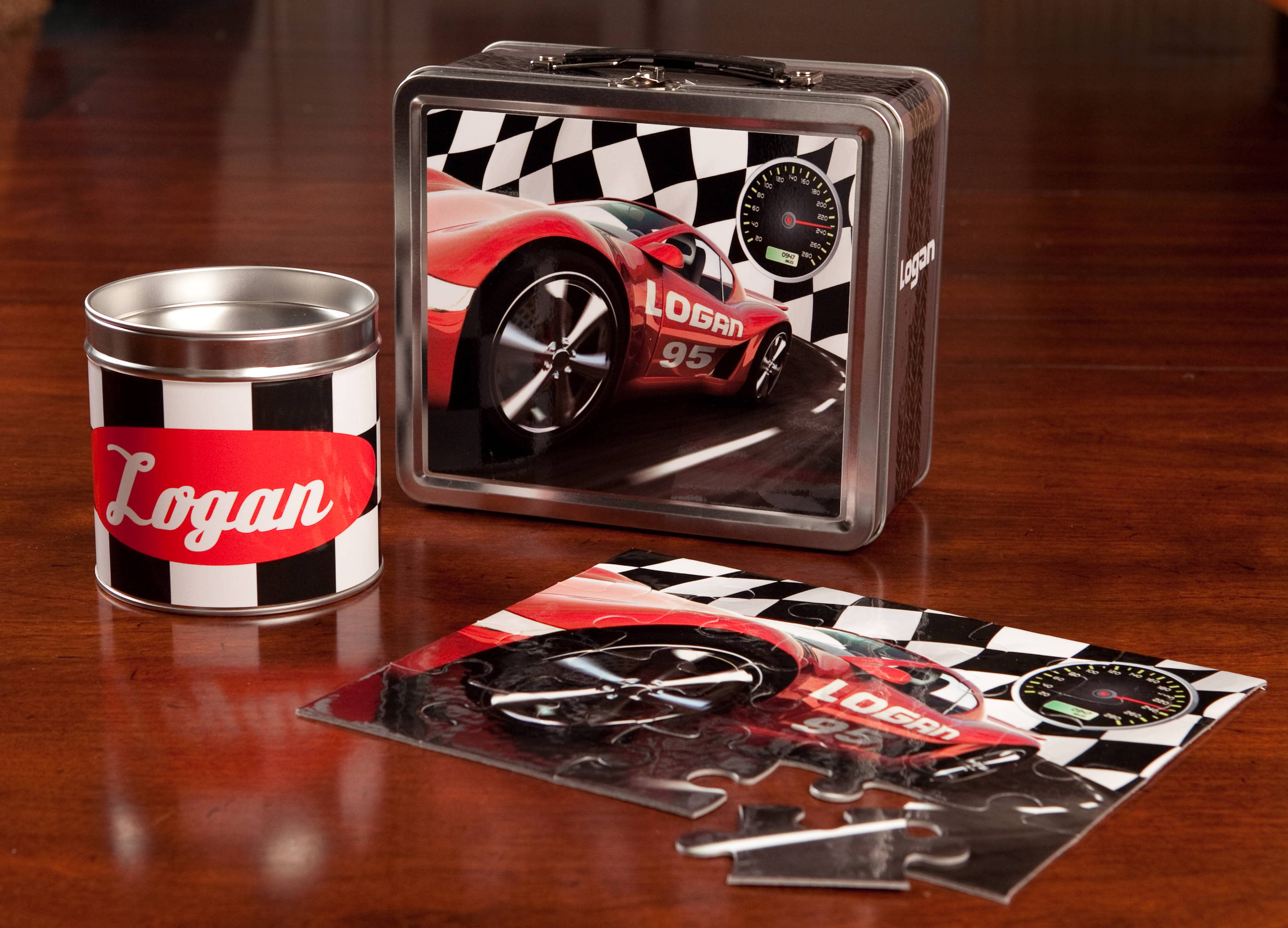 personalized race car gift set