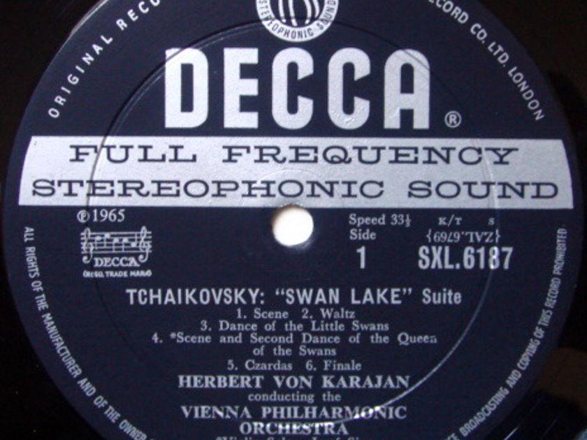DECCA SXL-WB-ED1 / KARAJAN, - Tchaikovsky Swan Lake, Sleeping Beauty, NM-!