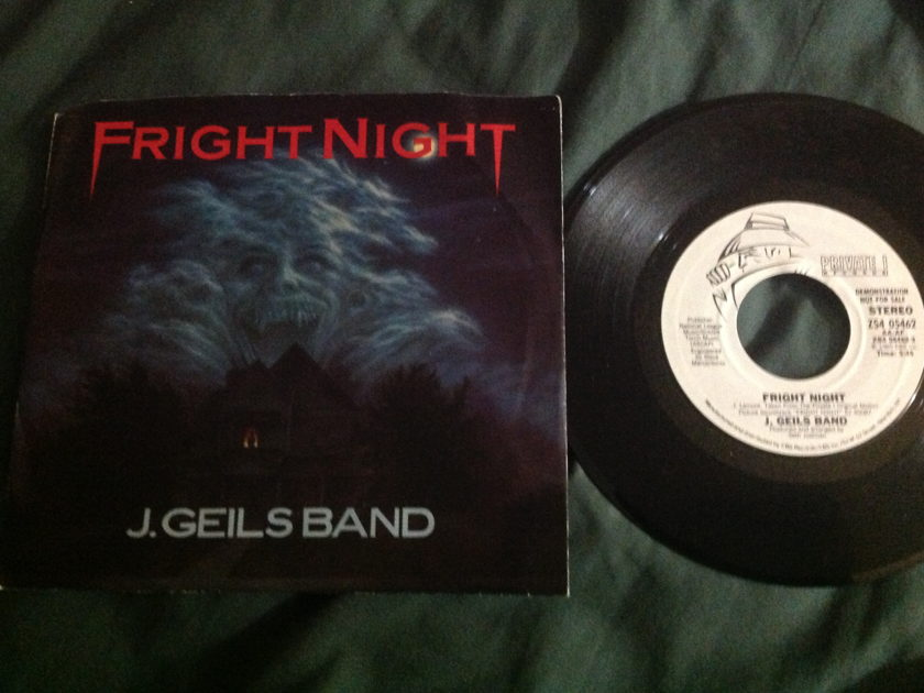 J. Geils Band - Fright Night Promo 45 With Sleeve