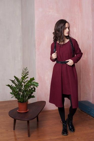 Теплое платье RED WINE
