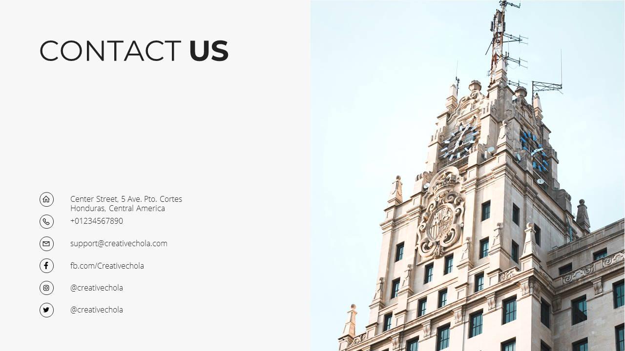 Minimal X Presentation Template Business Plan Contact Us