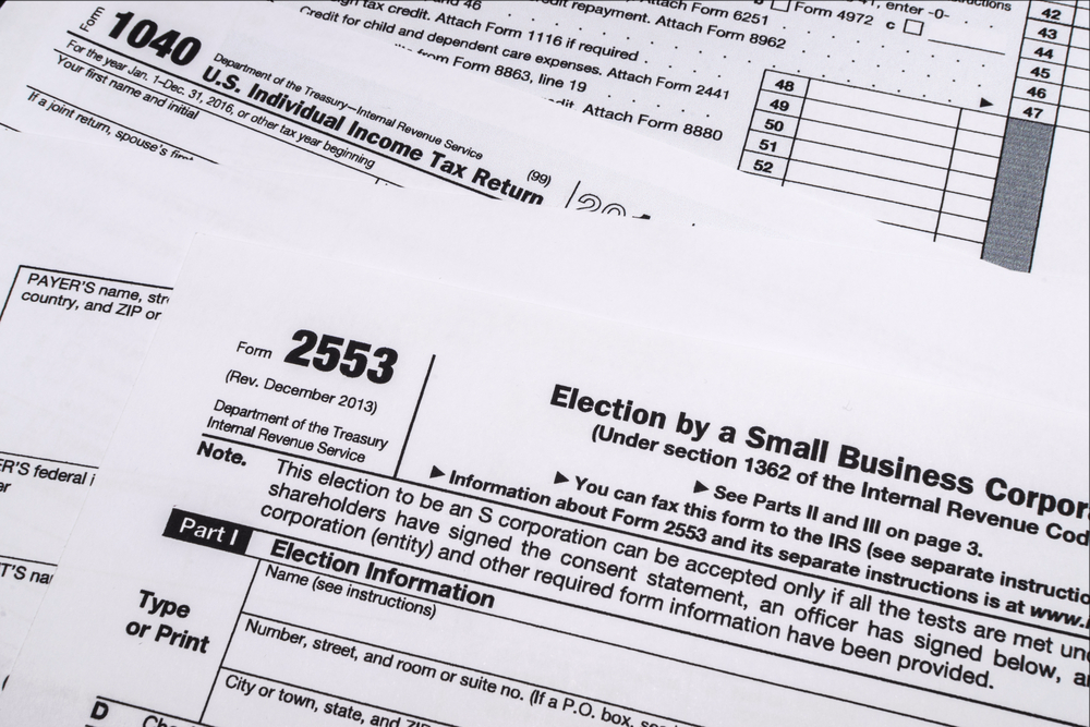 Subchapter S Irs Form 2553