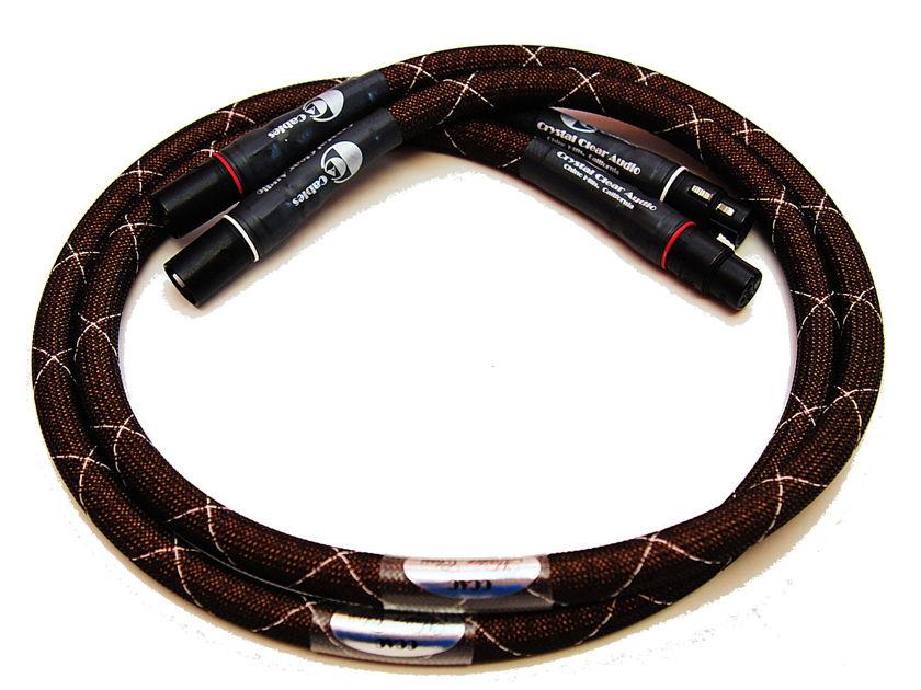 Crystal Clear Audio Master Class series xlr 1m pair black