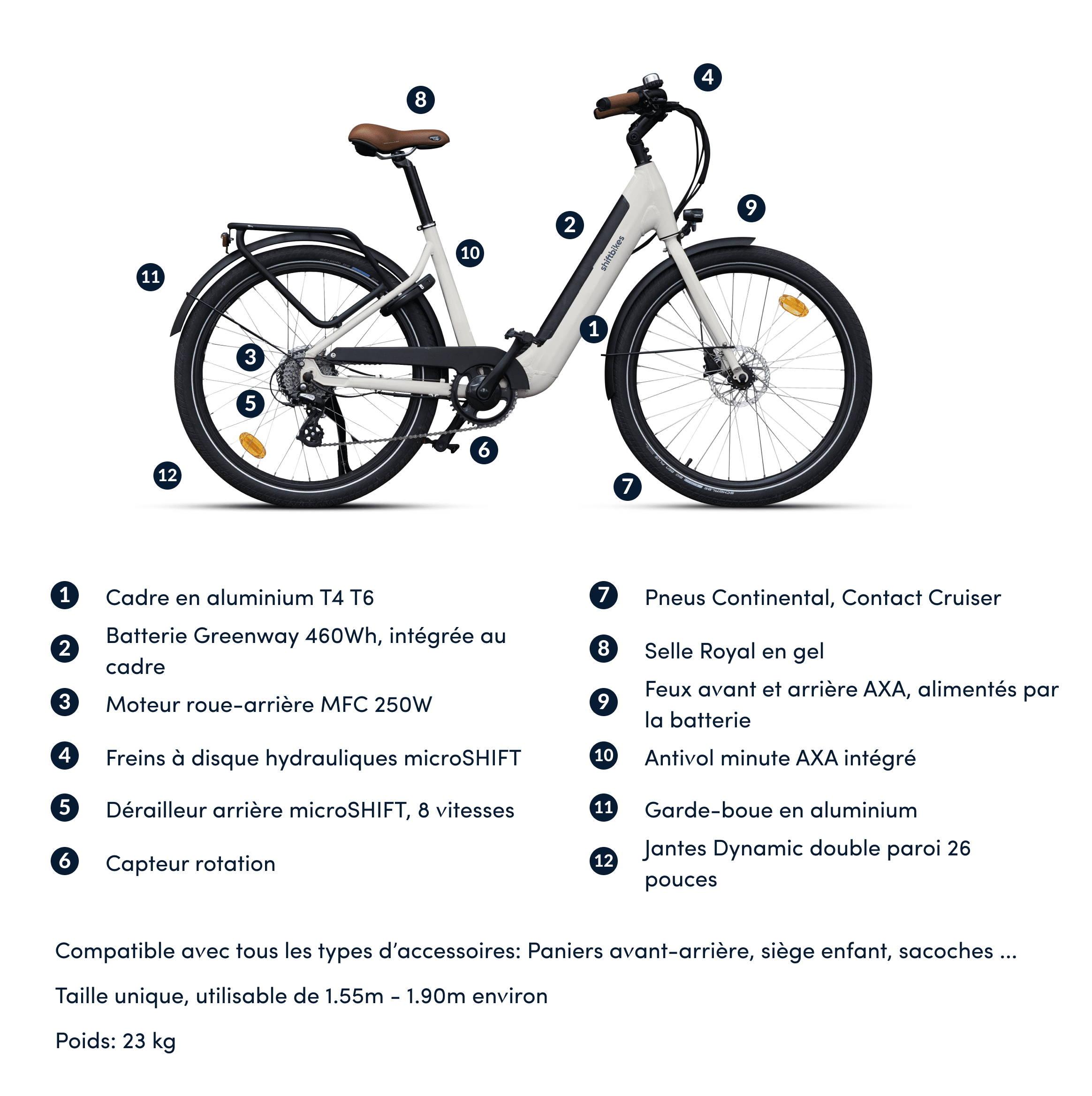 caractéristiques vélo électrique