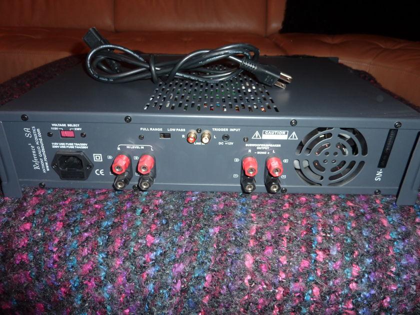 Gallo 3.1 Speakers & Sub Amp Reference 3.1'S  Black / Black