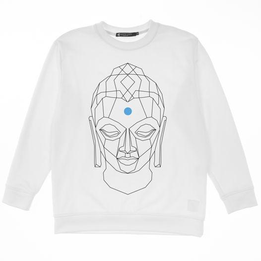 Свитшот Будда белый