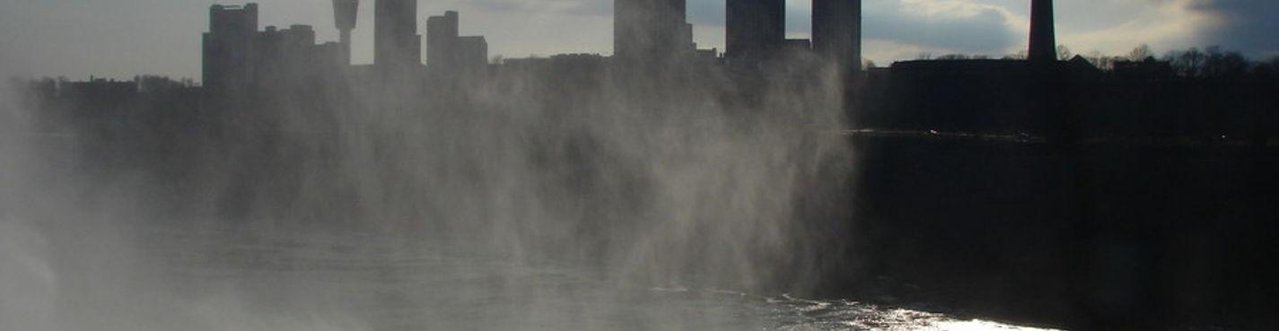 Ниагара Фолс, штат Нью-Йорк и Ниагарские водопады