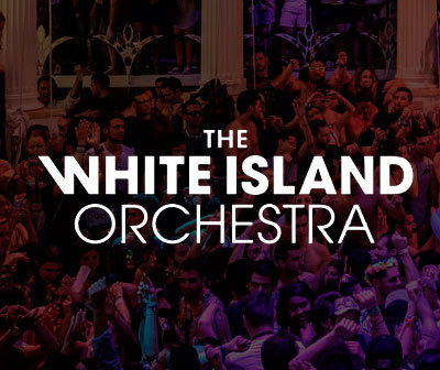 The white island orchestra, Es paradis Ibiza nightclub. Party calendar and tickets