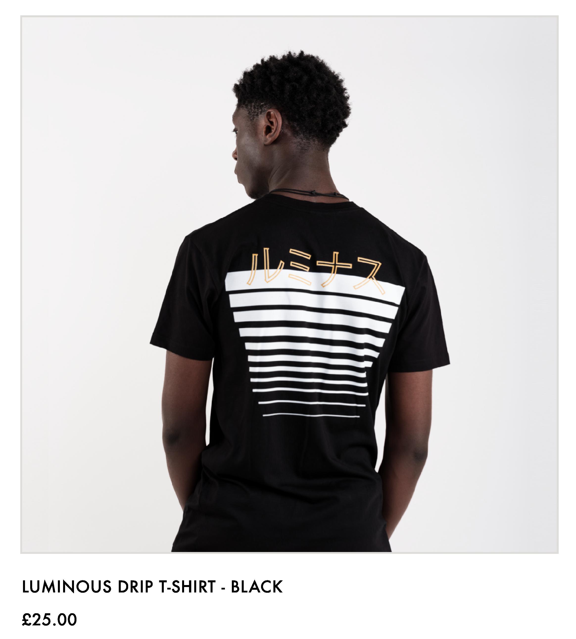 Luminous Drip T-shirt - Black
