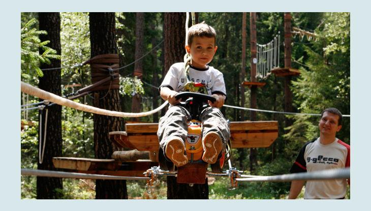 bester geburtstagde kletterwald weiherhof bäume wagen seilrutsche kinder sicher