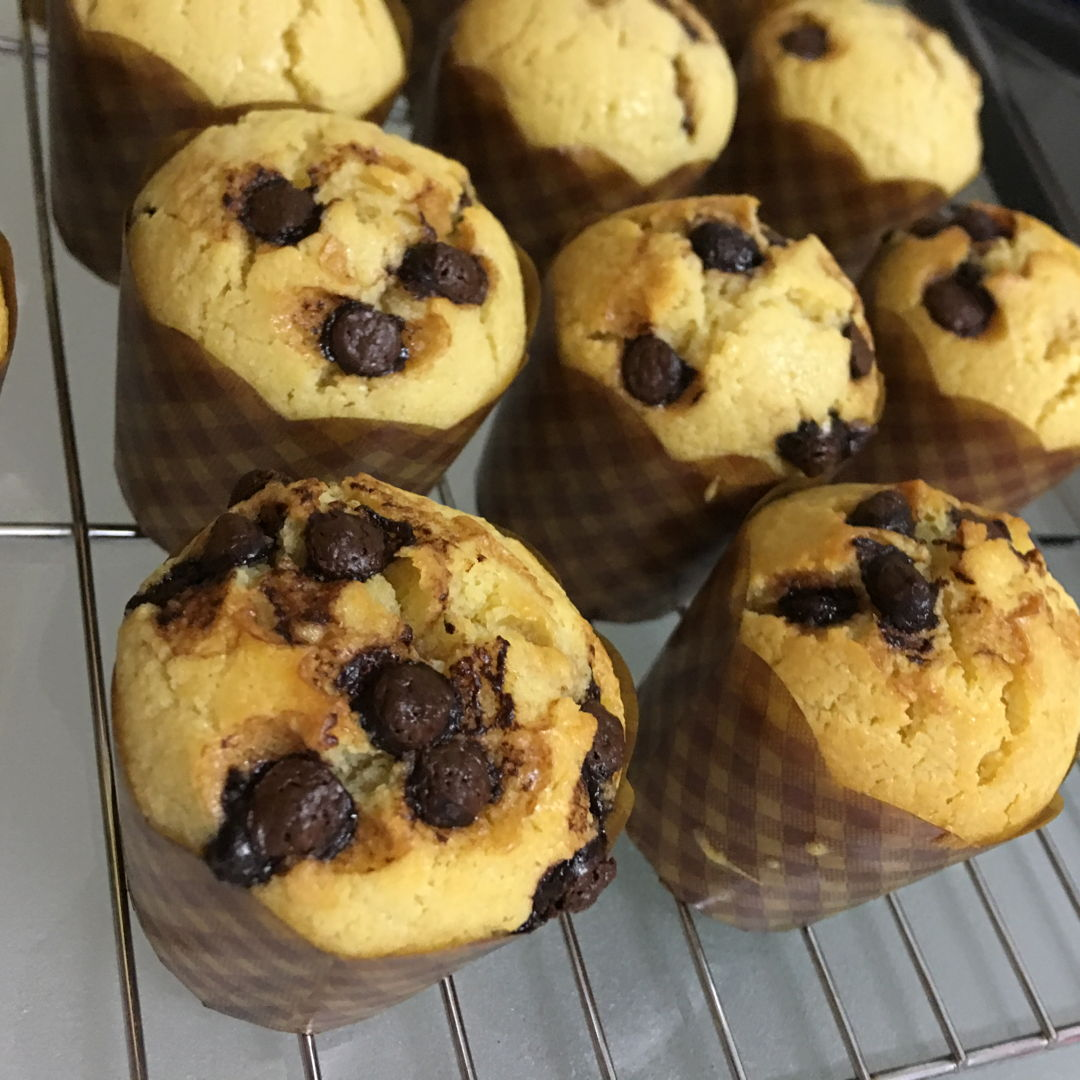May 18th, 20 - chocolate chips muffin. This time is a success. Yummy