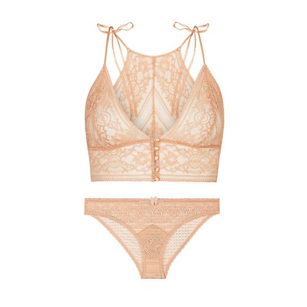 Stella McCartney Lingerie Ophelia Whistling Lace soft cup bra set