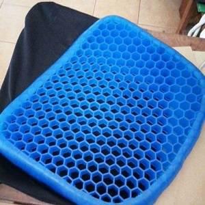 coussin siege gel bleu, coussin coccyx, coussin chaise lombaire, coussin nid abeille, coussin sciatique