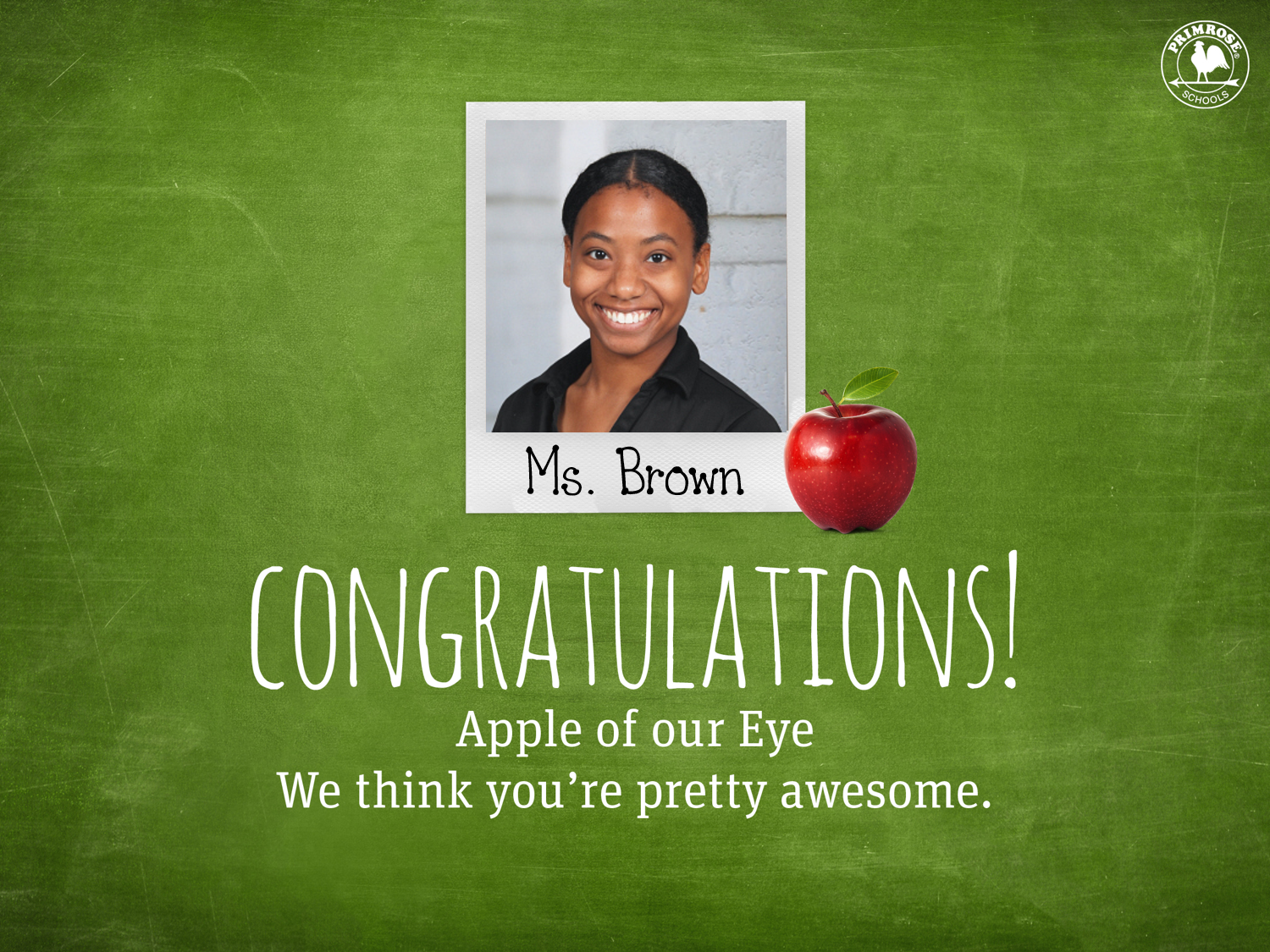 Apple of our Eye Teacher Ms Brown