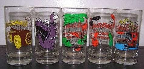 the flintstones collector glasses