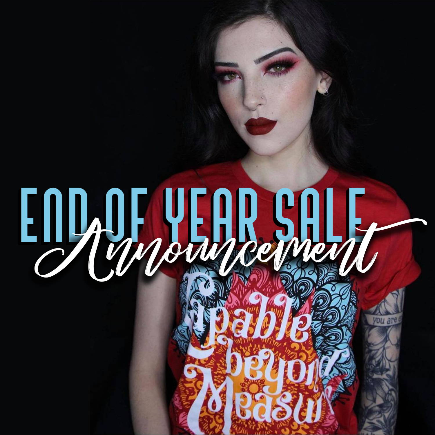 End of Year Sale Announcement