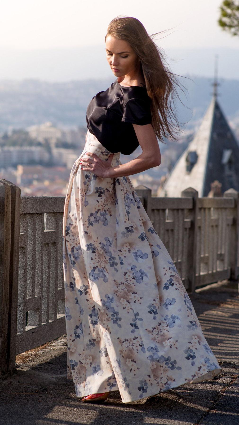 Джинсовая юбка-тюльпан