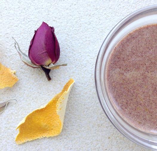 гоммаж для сухой кожи лица роза и апельсин ОРИС