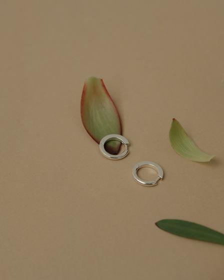 Серьги-кольца из серебра от марки Rusalka